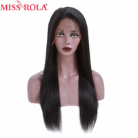 Miss Rola Hair 13*4 Lace Front Human Hair Wigs 150% Density Straight Brazilian Remy Hair Nature Color Wigs for Black Women