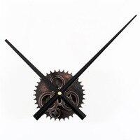 Roda Dentada grande Retro Preto de Madeira DIY Relógio de Parede Individualidade Artística Estilo Industrial de Luxo Vogue Relógio de Decoração Para Casa Em Silêncio