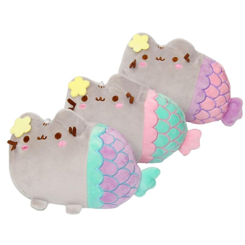 1pc Cartoon 20CM Pusheen Cat Little Mini Mermaid Plush Toys Lovely Animal Smile Fat Cat Plush Doll Toys for Children Gift Doll