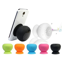 Portable Mini Mushroom Bluetooth Wireless Suction Waterproof Handsfree Speaker