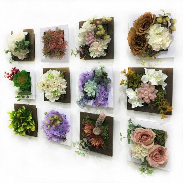 Nuevo 3d Flores Artificiales Plantas Suculentas Imitacion Madera