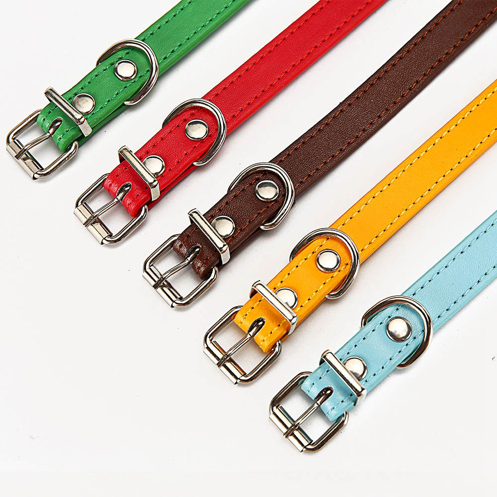 Cat Collar Safety Puppy Collar Chihuahua Solid Dog Collar For Cats Kitten Pet Cat Collars Adjustable Pet Leash Cat Lead Supplies (3)