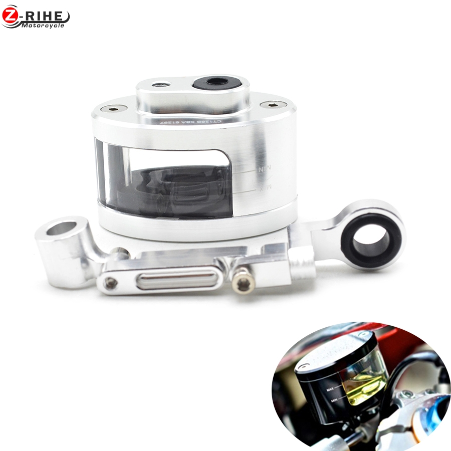 Universal CNC Motorcycle Brake Fluid Reservoir Oil Cup Use With DOT4 Brake Fluid For SUZUKI GSXR 600/750 hayabusa gsx1300r sv650 universal motorcycle cnc clutch brake pump fluid tank reservoir oil cup