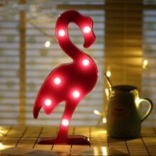 3d светодиодный ночник светильник с изображением фламинго единорога