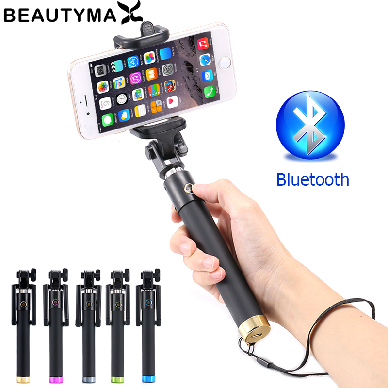Test Before Send! Bluetooth Selfie Stick Wireless Selfie Stick for iphone X 8 7 6 Plus 5s for Samsung Note 8 s8 plus s7 edge s6