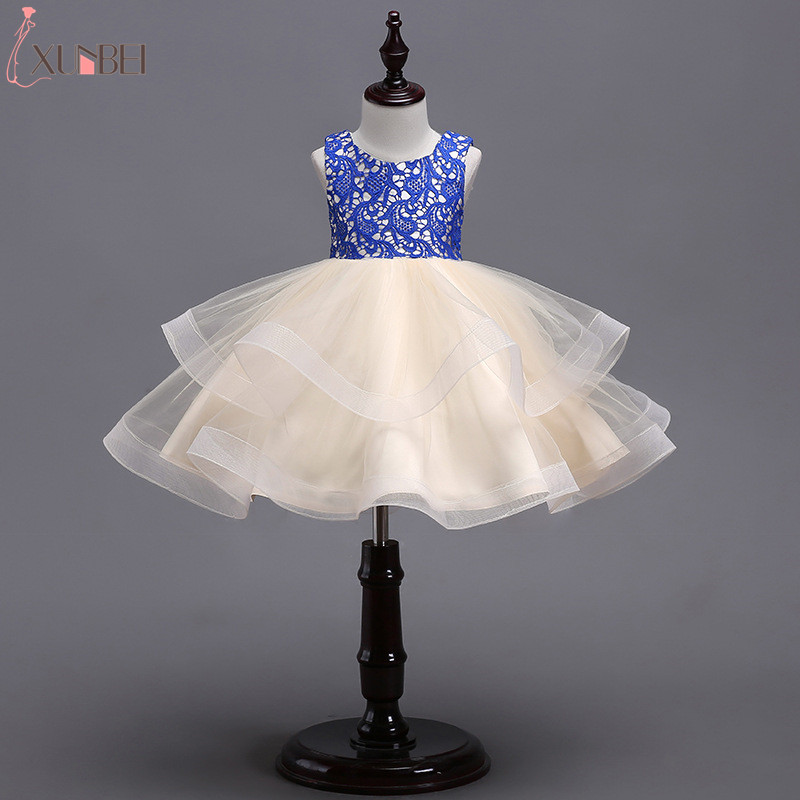 2019 Tulle Tiered Ball Gown   Flower     Girl     Dresses   Kids Prom   Dress   Pageant   Dresses   For   Girls   vestido daminha for First Communion
