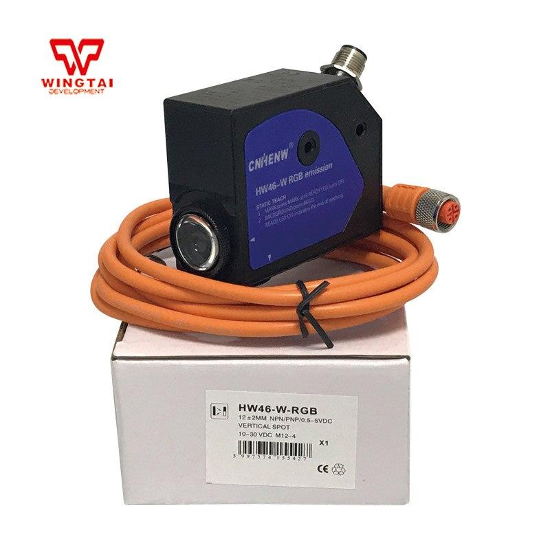 все цены на CNHENW Color Code Sensor HW46-W-RGB Proximity Sensor For Packaging Machinery онлайн