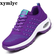 цена на Spring Autumn Woman casual shoes Comfortable Sneakers Female New Arrivals Fashion mesh Breathable Light shoes plus size 35-42