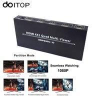 DOITOP 4X1 HDMI Multi Viewer HDMI Quad Screen Real Time Multi Viewer HDMI Splitter Seamless Switcher