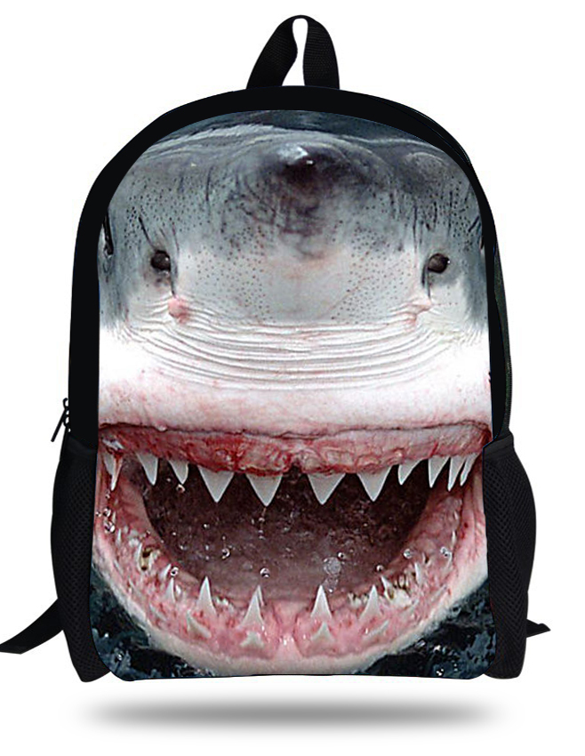 Aliexpress.com : Buy 16 inch Cool Great White Shark Bag Kids ...