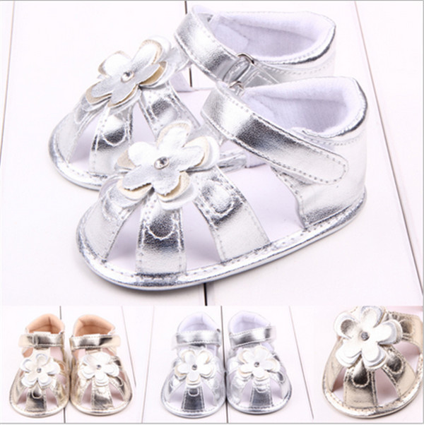 2015 Fashion Summer Baby Flower Shoes Toddler Infants Girls Princess Shoes First Walkers
