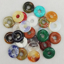 Assortiment de perles naturelles mélangées, boucles rondes de sécurité, pour la fabrication de bijoux, vente en gros de 30 pièces gratuites