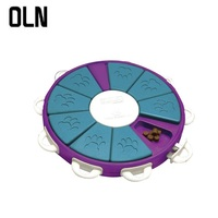 OLN Intelligent interactive dog feeding toy pet slow feeder anti swallowing durable ABS healthy food bowl training dogs to eat