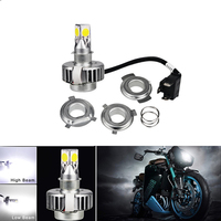 White 12v Ba20d H4 Led Motorcycle Bulb H4 Hi Lo Ba20d H6 Led Motorcycle Headlight Headlamp