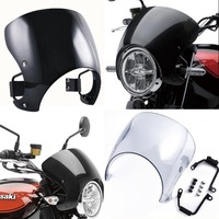 Motorcycle Windscreen Windshield Cafe Racer Fairing Wind Shield Deflector Protector Cover for 2018 Kawasaki Z900RS Z 900 RS