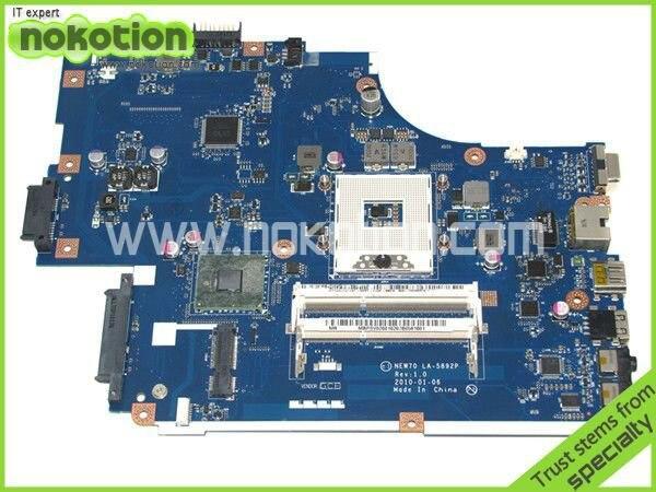 NOKOTION MBWJU02001 MB.WJU02.001 Laptop Motherboard for Acer 5741 For Gateway nv59c Main board LA-5892P HM55 DDR3 nokotion laptop motherboard for acer 5741 gateway nv59c hm55 gma hd ddr3 mainboard mbwju02001 la 5892p