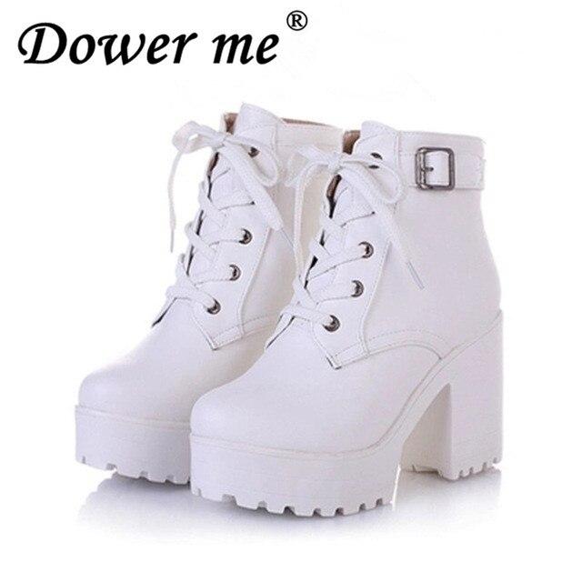 293503d32eb86 2018New kobiety deszcz buty moda zima śnieg platformy damskie botki  motocykl dla kobieta ślubne rozmiar 34