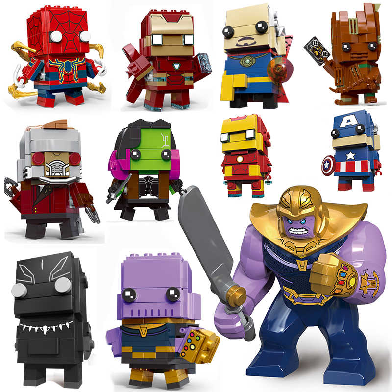 Decool Compatible legoed avengers 4 Infinity War endgame Marvel super heros brick heads headz building blocks sets 3 brickheadz