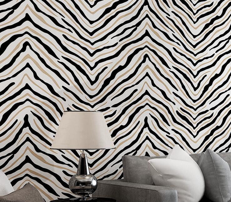 ФОТО Non-woven abstract zebra stripe wallpaper