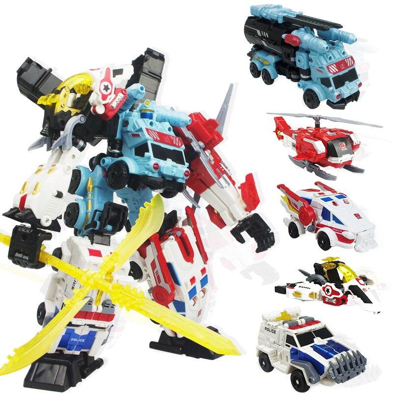 Oyuncaklar ve Hobi Ürünleri'ten Aksiyon ve Oyuncak Figürleri'de Jinjiang Yeni 5 in 1 Büyük Boy 32 CM Devastator Oyuncaklar Çocuk Dönüşüm Anime Aksiyon Figürleri Dinozor Robot Uçak Araba Modeli çocuklar'da  Grup 1