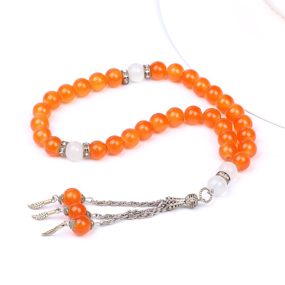 Tasbih Store Crystal orange beads islamic tesbih prayer beads