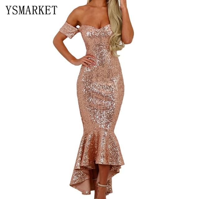 8bd76c41d7 Sexy maxi dress mujeres elegantes vestidos de noche de lentejuelas de oro  paillette femme robe sexy