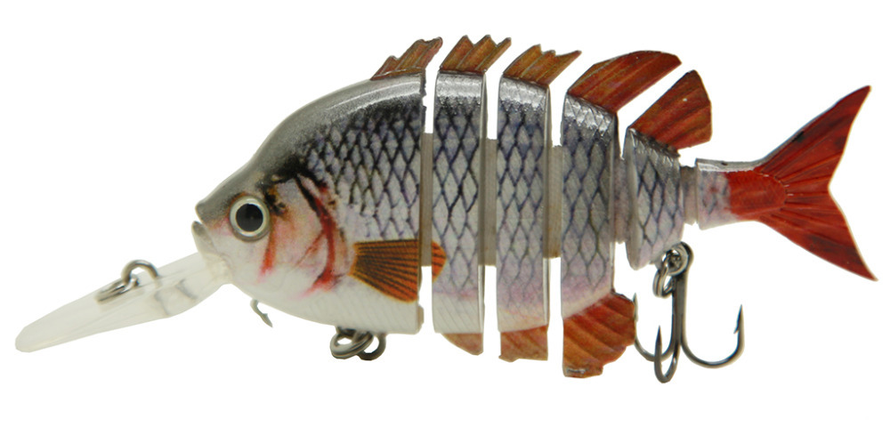 "3"" Crazy Panfish Multi Jointed Fishing Lips Life-like Hard Lures Swimbaits S-WPAN-E Free Shipping"