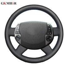 Protector de cuero Artificial para volante de coche, cubierta de dirección negra, para Toyota Prius 20(XW20) 2004 2005 2006 2007 2008 2009