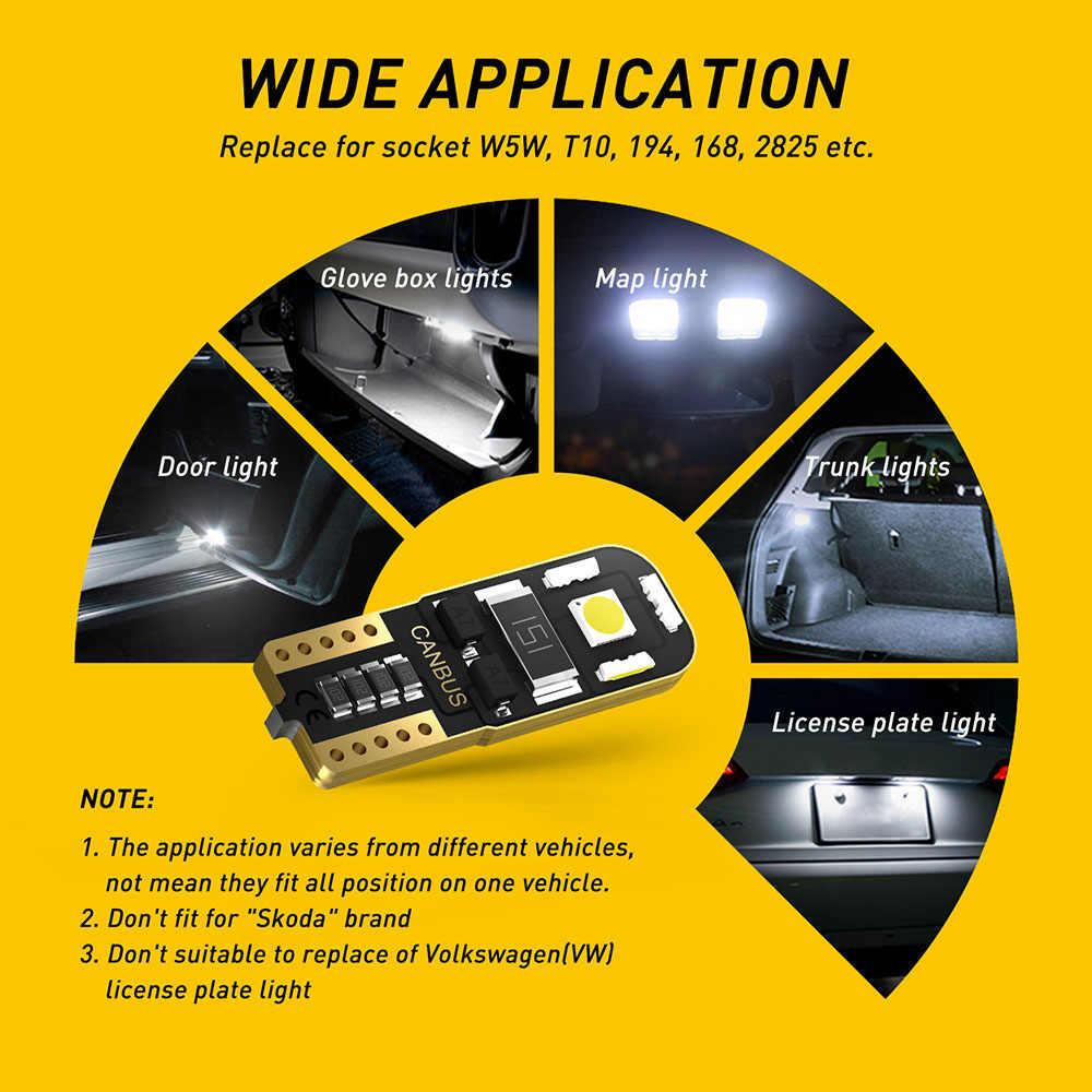 T10 W5W Xi Nhan CANBUS LED Dành Cho Xe Volkswagen VW T5 GOLF 4 5 7 6 Passat B8 B6 B5 Polo 6R t4 Caddy Không Lỗi Đậu Xe Đọc Doom Ánh Sáng