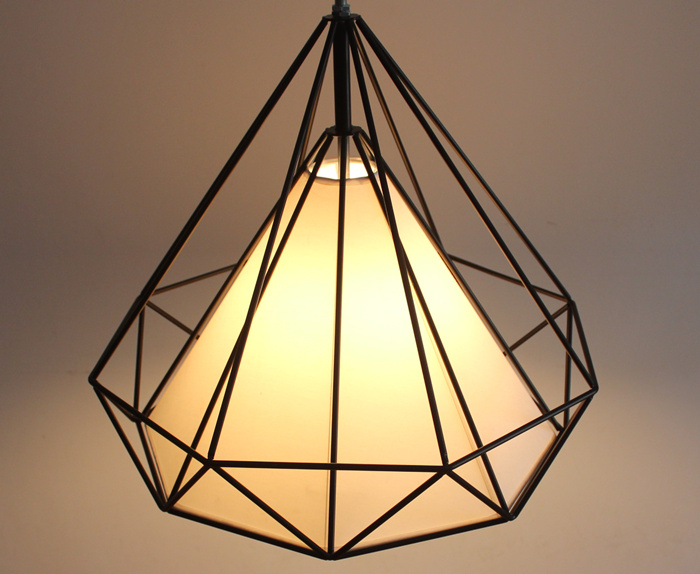 Conical Ceiling lights Diamond shape E27 Base Black Color Iron material White shade bar foyer Parlor Study foyer lightingConical Ceiling lights Diamond shape E27 Base Black Color Iron material White shade bar foyer Parlor Study foyer lighting