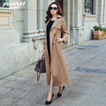 Brand Design Fashion Trench Coat Female 2019 New Spring Coat Women Khaki Double Breasted Long Large Size Womens Windbreakers