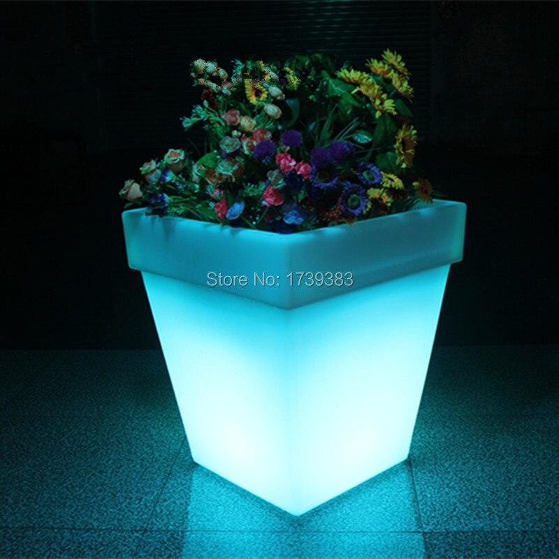 font b LED b font font b Light b font Flowerpot Colors Changeable Luminous flash