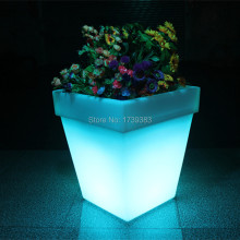 LED Light Flowerpot Colors Changeable Luminous flash flower pot tray VASO Vase LIGHT indoor Outdoor