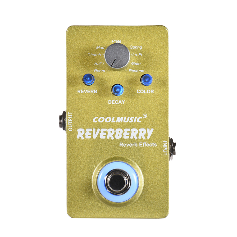coolmusic guitar pedal digital reverb guitar effect pedal with 9 reverb effects true bypass. Black Bedroom Furniture Sets. Home Design Ideas
