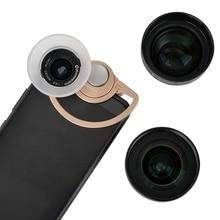 Mobile Lens External high-definition SLR mirror set universal cellphone lens Macro portrait lens wide-angle  fisheye lens