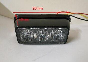 Bright 3W Led car surface mounting warning lights,strobe light,emergency light,flashing lamp with bracket,waterproof,2pcs/1lot
