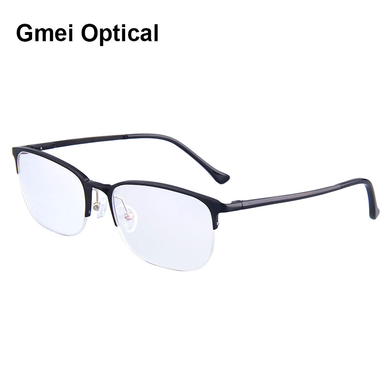 6c00ef4169 Voguish Women Hydronalium Glasses Frames Brand Designer Business Men Frame  Half Rim Eyeglasses Frames With Spring Hinge On Legs-in Eyewear Frames from  ...