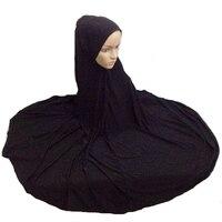 Muslim Niqaab Islamic Hijab Scarf Woman Islam Jilbab Cap Abaya 130cm Super Long