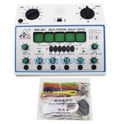 Elektrische Acupunctuur Stimulator Machine Elektrische zenuw spier stimulator 6 Kanalen Uitgang Patch Massager Care KWD808-I