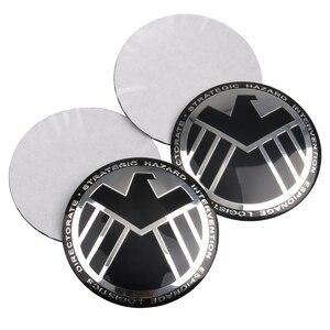 Автомобильный Стайлинг 4 шт./упак. Марвел агенты щит эмблема значок наклейка автомобильная шина рулевое колесо центр ступицы наклейка креативные наклейки