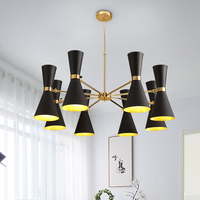 After The Nordic Modern Minimalist Chandelier Creative Personality Living Room Lights Hanging Lamps Industrial Wind LOFT
