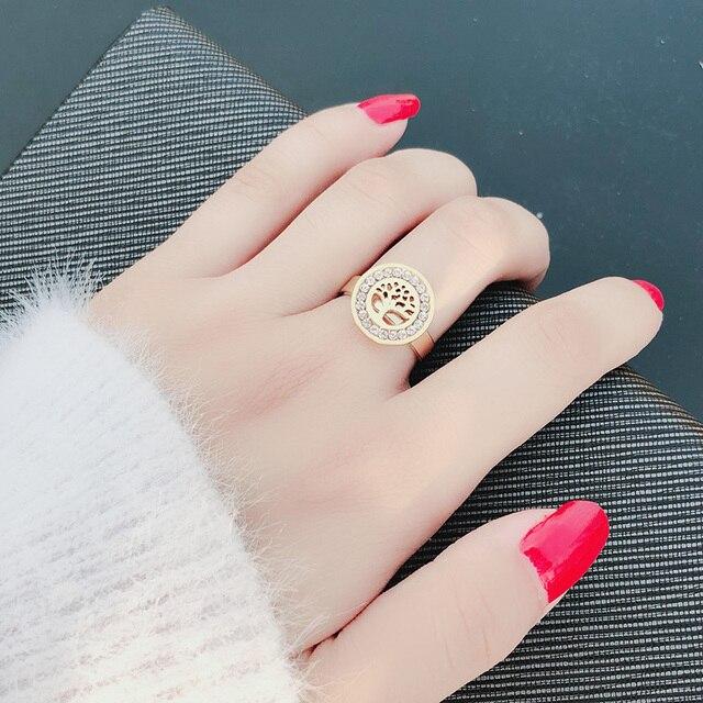 Женское кольцо из нержавеющей стали dotifi 316 с цирконием