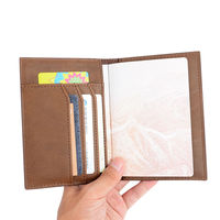 ONLVAN 100 Genuine Leather Passport Cover Vintage Solid Travel Business Card Holder Passport Bags Driver S