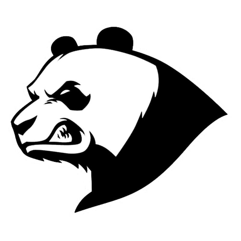13,6*11,6 см Рисунок сердитой панды Bear Творческий животных стайлинга автомобилей виниловые, отражающие, для машины наклейки черный/серебристый...