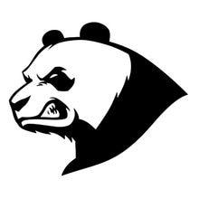13.6*11.6cm urso panda irritado criativo animal estilo do carro vinil reflexivo adesivos de carro preto/prata C9-1873