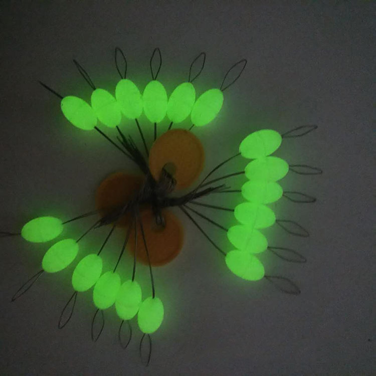 30Pcs Luminous Seven star Oval Mini Fishing Float Space Beans Easy Use Floater Are Put On The Like A Stopper And Be Fixed J303 in Fishing Float from Sports Entertainment