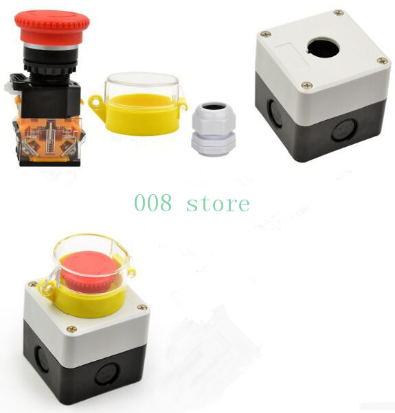 все цены на Emergency stop button, switch control box, emergency stop, error prevention cover, waterproof dust, single hole онлайн
