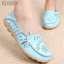 Women's Casual Genuine Leather Shoes new Selling Woman Loafers Slip-On Female Flats Moccasins Ladies Driving Shoe Cut-Outs Mothe tastabo casual genuine leather flat shoe for women flower slip on driving shoe female moccasins flats lady pregnant women shoes