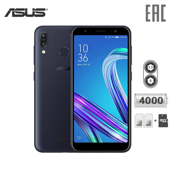 Smartphone Asus Zenfone Max (M1) 3+32GB ZB555KL mobile phone 2018 superbattery 18:9 twincamera smartphone