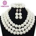 Branco Contas De Casamento Nigeriano Beads Casamento Africanos Set Jóias Dubai Indiano Set Traje Do Natal Set Jóias Navio Livre WB862